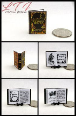 THE COMPLETE SHERLOCK HOLMES Miniature One Inch Scale Illustrated Readable Book