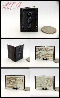 DARKHOLD Grimoire The BOOK Of SINS Miniature One Inch Scale Illustrated Book