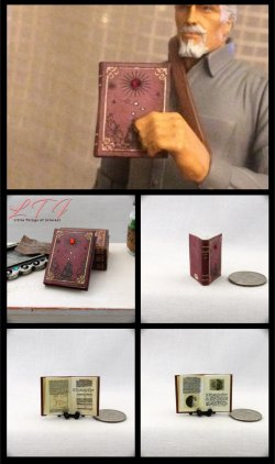 DIARY OF GALILEO Miniature One Inch Scale Illustrated Book