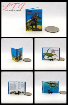 A GALLERY OF DINOSAURS Dollhouse Miniature Scale Readable Illustrated Book