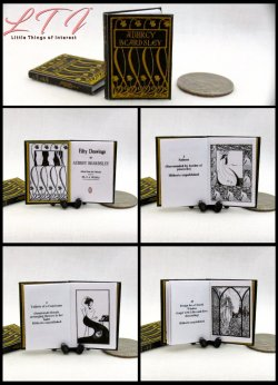 DRAWINGS by Aubrey Beardsley Miniature One Inch Scale Illustrated Book