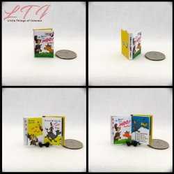 DR. SEUSS BOOK SET 8 Miniature One Inch Scale Readable Illustrated Books