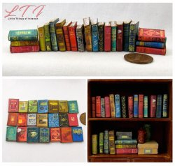 DUSTY OLD BOOKS 21 Miniature One Inch Scale Prop Faux Books