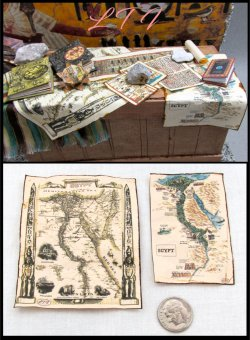 ANCIENT EGYPTIAN MAPS in Miniature One Inch Scale