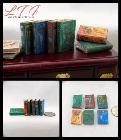 GREAT EXPLORERS 6 Miniature One Inch Scale Faux Prop Books