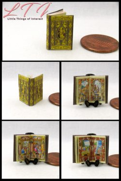 FARNESE BOOK Of HOURS Miniature One Inch Scale Readable Illustrated Book
