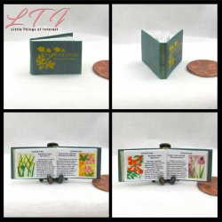 FLOWER GUIDE Miniature One Inch Scale Readable Illustrated Book