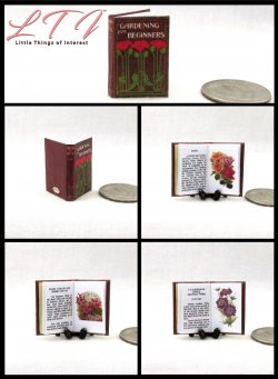 GARDENING FOR BEGINNERS Miniature One Inch Scale Readable Illustrated Book