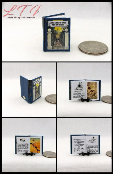 A CHILDREN'S GARDEN OF VERSES Miniature One Inch Scale Illustrated Book
