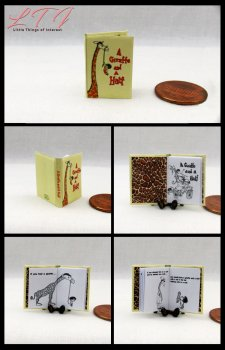 A GIRAFFE AND A HALF Dollhouse Miniature Scale Readable Illustrated Book
