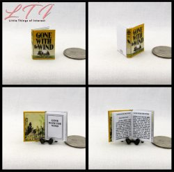 GONE WITH THE WIND Miniature One Inch Scale Readable Book