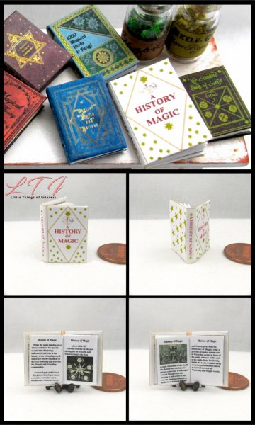 A HISTORY of MAGIC Miniature One Inch Scale Illustrated Readable Book