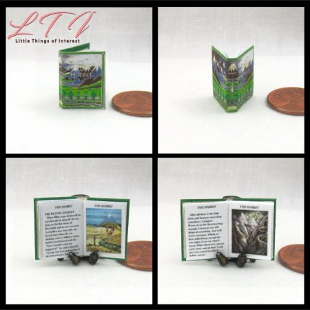 THE HOBBIT By J. R. R. Tolkien Miniature One Inch Scale Illustrated Readable Book