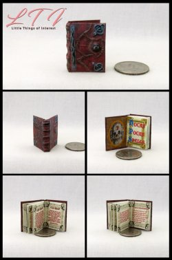 HOCUS POCUS BOOK OF SPELLS Miniature One Inch Scale Readable Illustrated Book