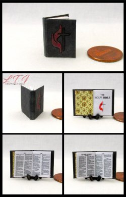 THE HOLY BIBLE Miniature One Inch Scale Readable Book