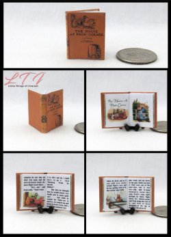 THE HOUSE AT POOH CORNER Miniature One Inch Scale Illustrated Readable Book