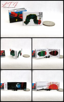THE VERY HUNGRY CATERPILLAR Miniature One Inch Scale Readable Illustrated Book