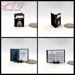 JAWS Miniature One Inch Scale Readable Book