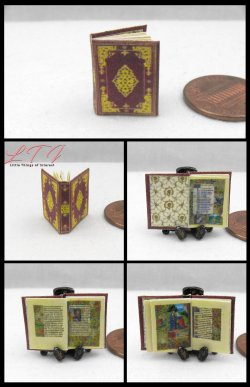 BOOK of HOURS The Hours of Jeanne d'Evreux Miniature One Inch Scale Illustrated Book