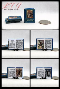 JOAN OF ARC Dollhouse Miniature One Inch Scale Readable Illustrated Book