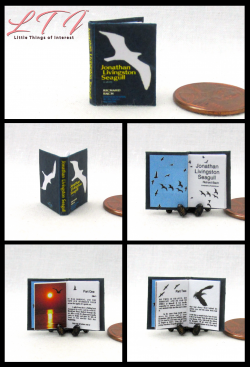 JONATHAN LIVINGSTON SEAGULL Miniature One Inch Scale Readable Illustrated Book