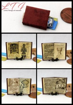 JONES DIARY Miniature One Inch Scale Readable Illustrated Book Indiana Jones