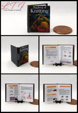 BIG BOOK OF KNITTING Miniature One Inch Scale Book