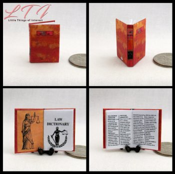 A LAW DICTIONARY Miniature One Inch Scale Book