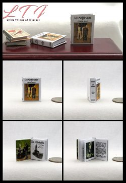 Les Misérables Miniature One Inch Scale Readable Illustrated Book