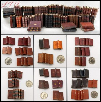 LIBRARY BOOKS 72 Prop Books in Dollhouse Miniature Scale