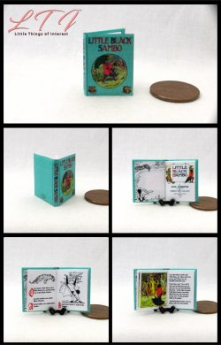 LITTLE BLACK SAMBO Dollhouse Miniature Scale Readable Illustrated Book