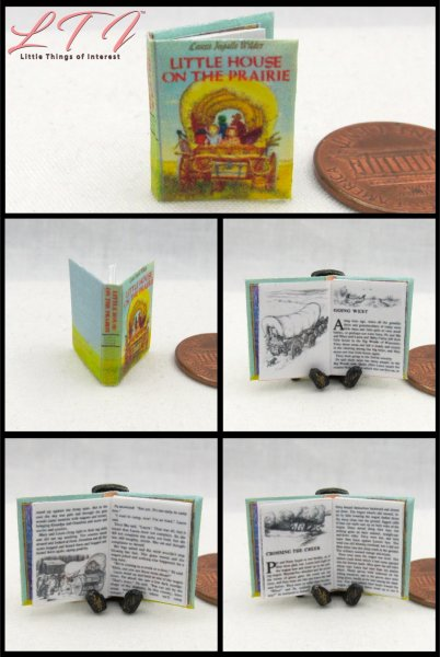 LITTLE HOUSE ON THE PRAIRIE Miniature One Inch Scale Readable Book