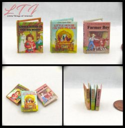 LITTLE HOUSE ON THE PRAIRIE SET 3 Miniature One Inch Scale Readable Illustrated Books
