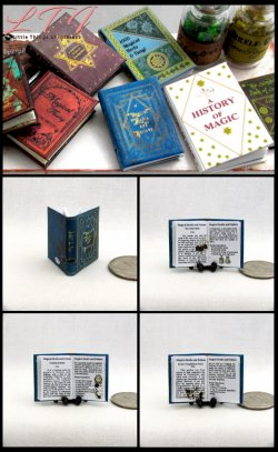 MAGICAL DRAFTS AND POTIONS Textbook Miniature One Inch Scale Illustrated Readable Book