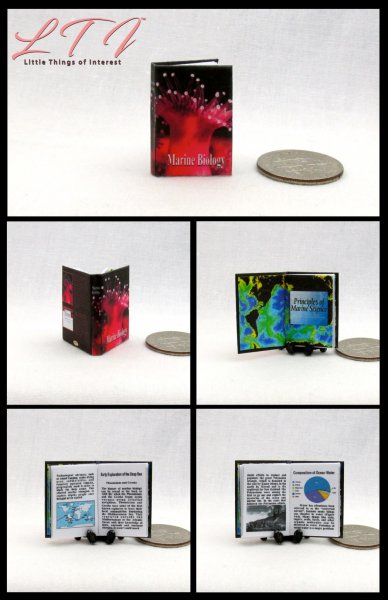 MARINE BIOLOGY Miniature One Inch Scale Readable Illustrated Book
