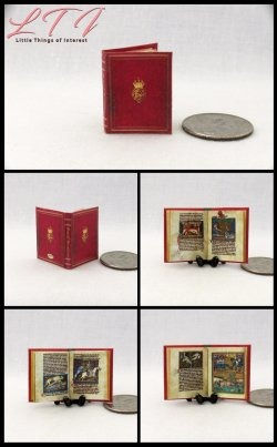 MEDIEVAL ROYAL BESTIARY Miniature One Inch Scale Illuminated Book