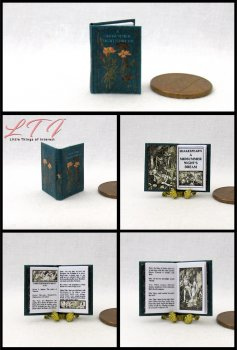 A MIDSUMMER NIGHT'S DREAM Shakespeare Illustrated Miniature One Inch Scale Book