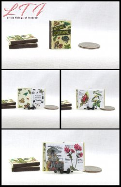 THE NATURE JOURNAL Miniature One Inch Scale Illustrated Book
