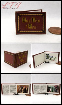ONCE UPON A TIME Book of Fairy Tales Miniature One Inch Scale Illustrated Readable Book