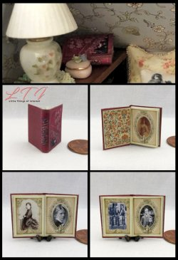 VINTAGE PHOTO ALBUM Miniature One Inch Scale Scrap Book