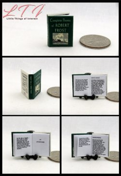 POEMS Of ROBERT FROST Miniature One Inch Scale Readable Book