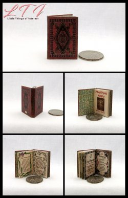 PRACTICAL MAGIC SPELL BOOK Miniature One Inch Scale Readable Illustrated Book