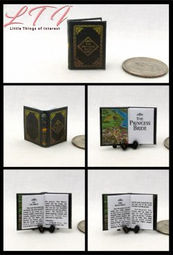 THE PRINCESS BRIDE Miniature One Inch Scale Readable Book