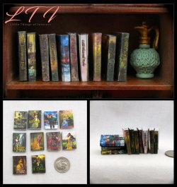 ROMANCE NOVELS Set of 10 Prop Books in Miniature One Inch Scale