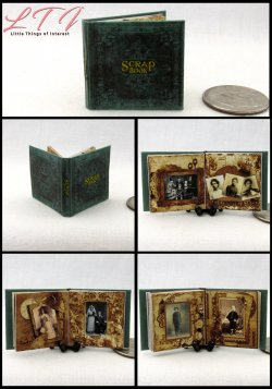 SCRAP BOOK Miniature One Inch Scale Vintage Photo Book