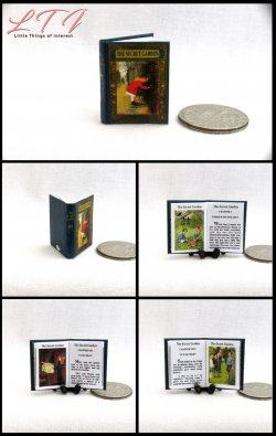 THE SECRET GARDEN Miniature One Inch Scale Readable Illustrated Book