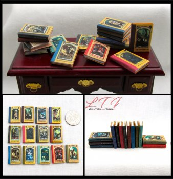 A SERIES OF UNFORTUNATE EVENTS SET 13 Miniature One Inch Scale Readable Illustrated Books