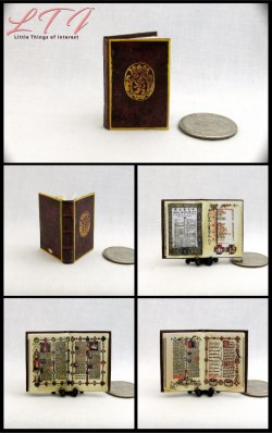 THE SHERBORNE MISSAL Medieval Miniature One Inch Scale Prayer Book