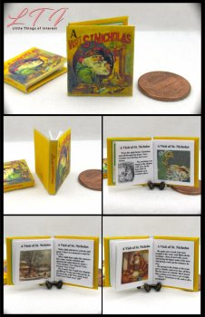 A VISIT OF ST. NICHOLAS Miniature One Inch Scale Readable Illustrated Book