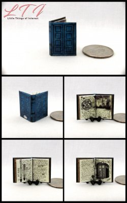 TARDIS JOURNAL RIVERSONG'S SPOILERS BOOK Miniature One Inch Scale Illustrated Book